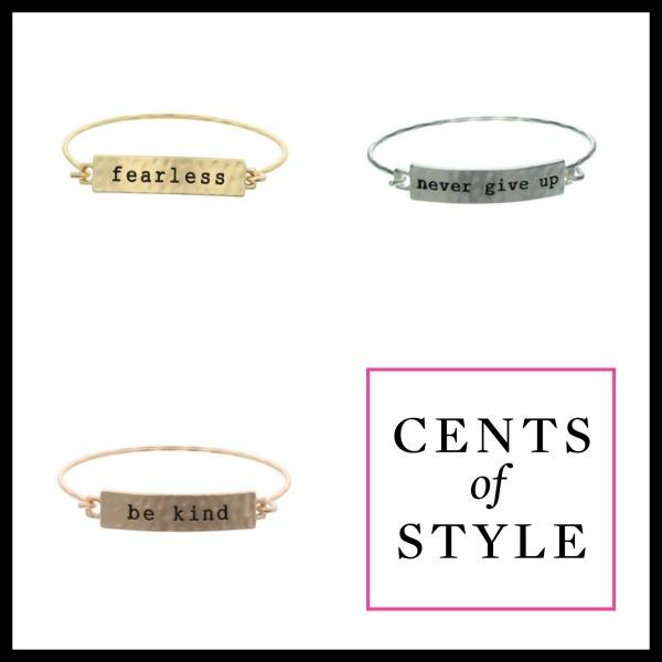 Inspiring Word Bracelets