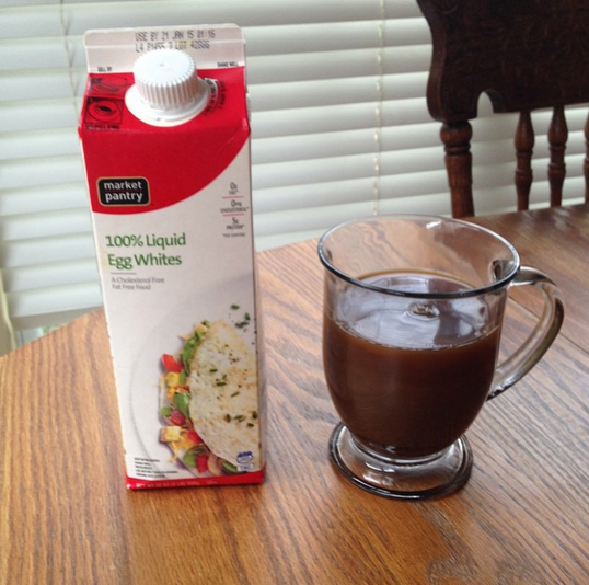 egg whites and coffee
