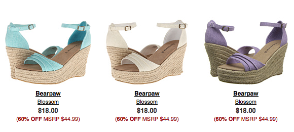 Bearpaw Wedges for $18 shipped!