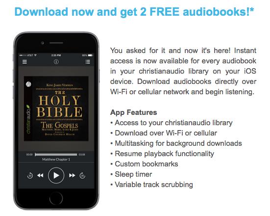 Free ChristianAudio app
