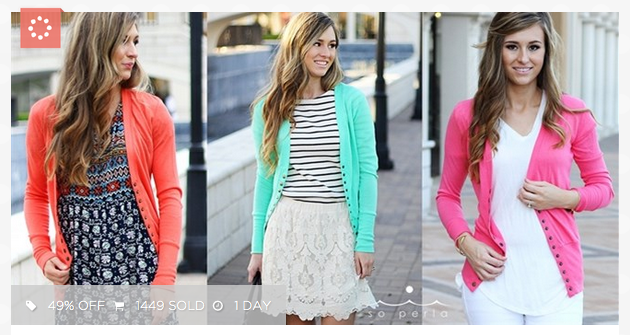 Button Cardigan for $17 shipped