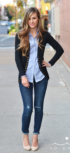 Get the Long Button Cardigan for $17 shipped!