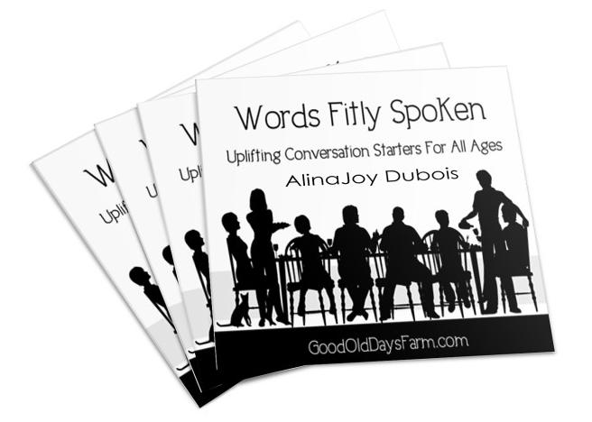 Free Conversation Starter printables