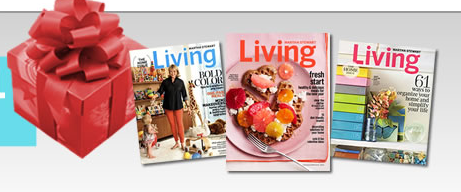 Free subscription to Martha Stewart Living