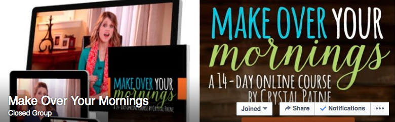 Want some encouragement and accountability to Make Over Your Mornings?