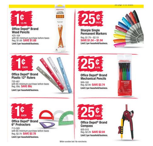 Back to School Deals at Office Max