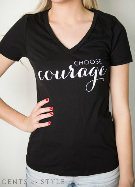 Choose Courage tee