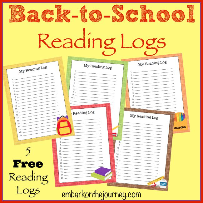 Back-to-School-Reading-Logs