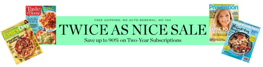 Magazine 2 year sale