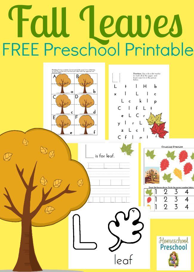 Fall Leaves Printable - Fall Books For Kindergarten