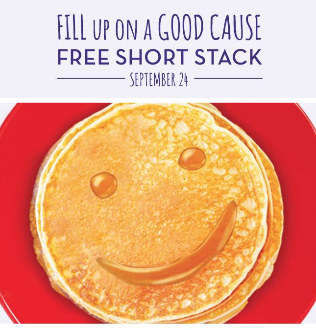 Free Short Stack of Pancakes at Perkins