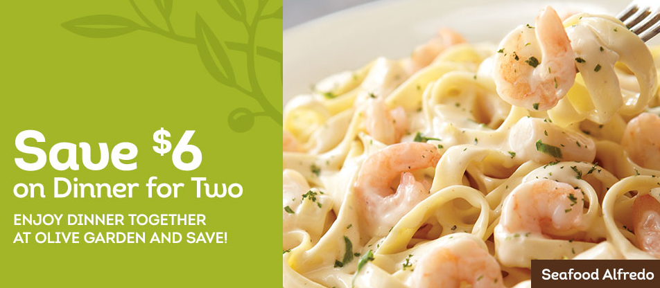 Olive Garden Coupon 6 Off Dinner For Two Money Saving Mom