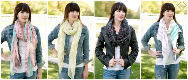 model scarves