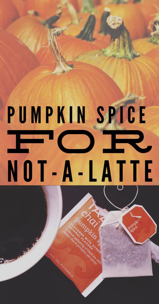 pumpkin spice not a latte