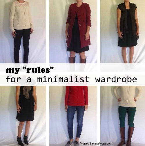 ruls for a minimalist wardrobe