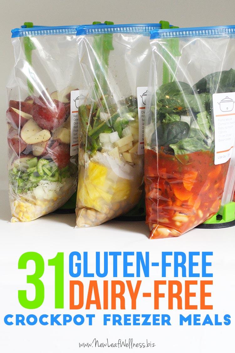 31 Gluten Free Dairy Free Crockpot Freezer Meals