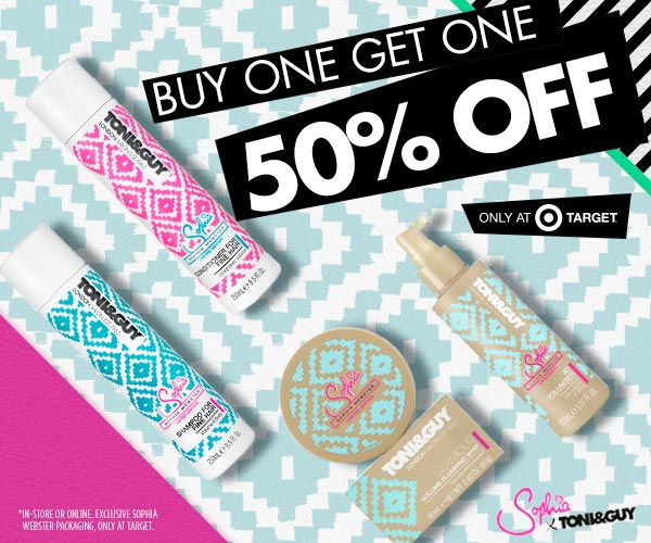 Buy One Get One 50% Off Toni & Guy Sale