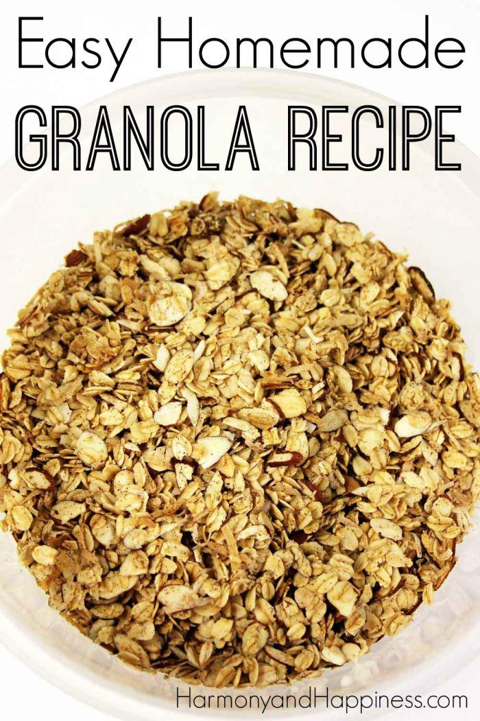 DIY Easy Homemade Granola Recipe