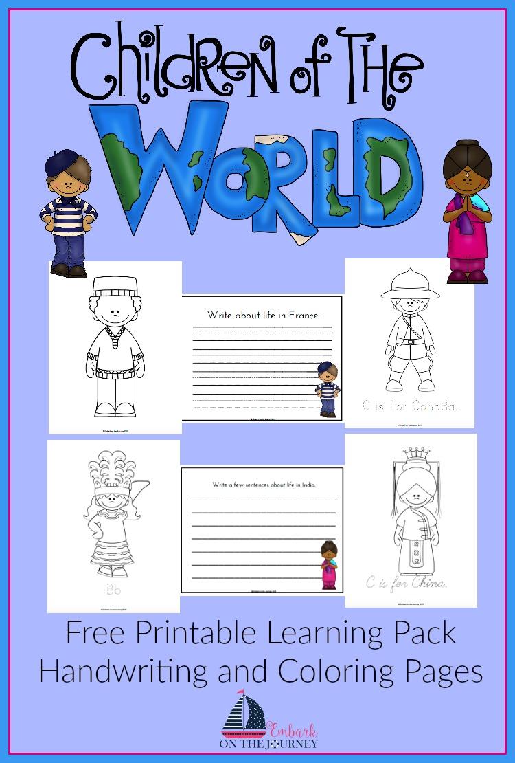 Free Children Around The World Printable Pack