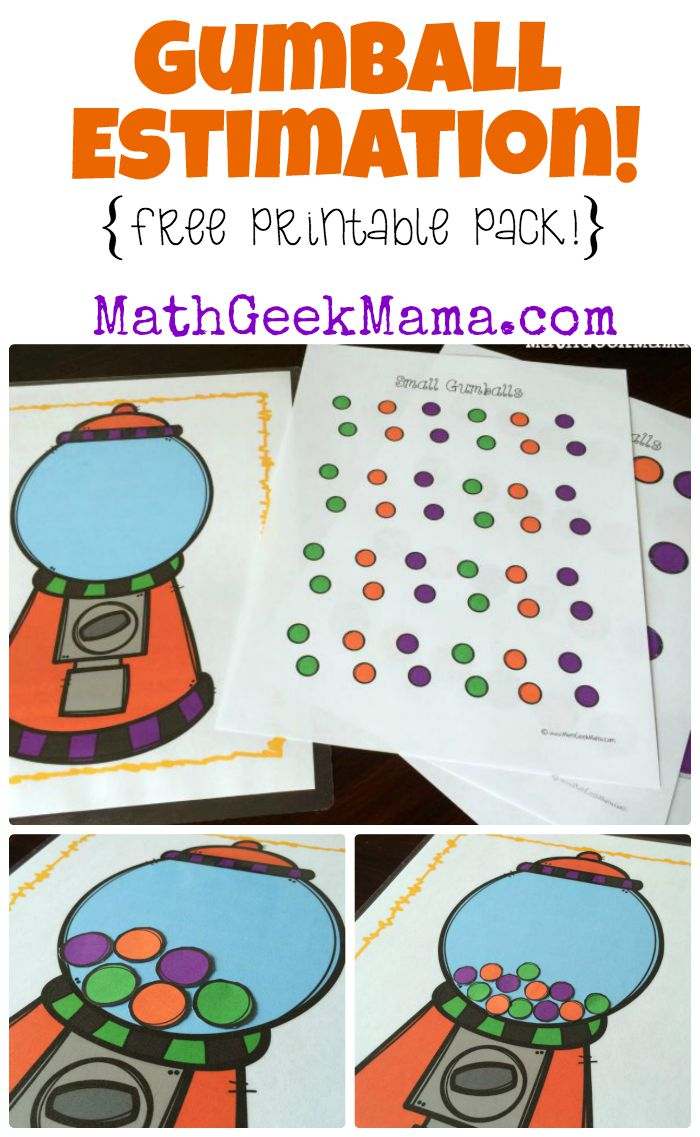 Free Gumball Estimation Printable Pack