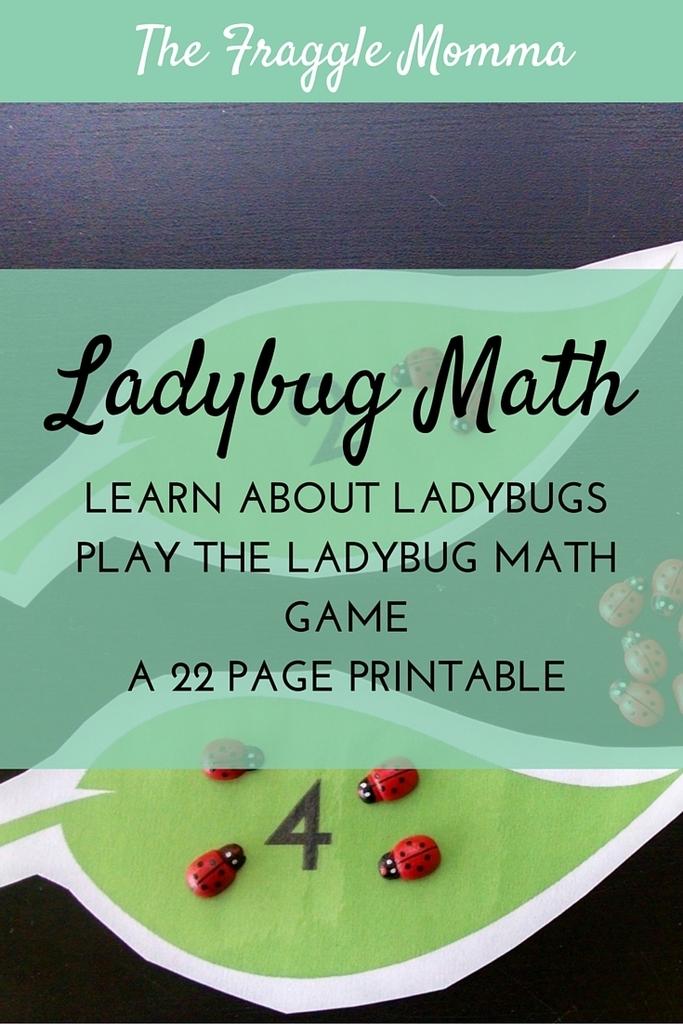 Free Ladybug Math Printable - Money Saving Mom®