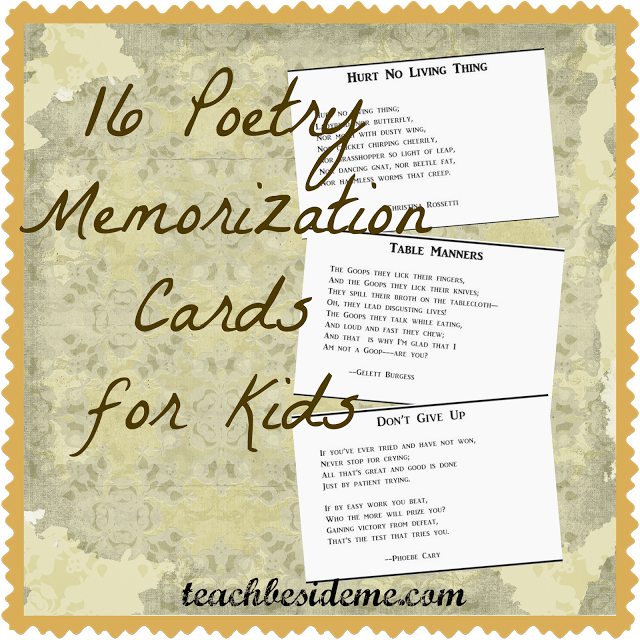 Free Poetry Memorization Cards