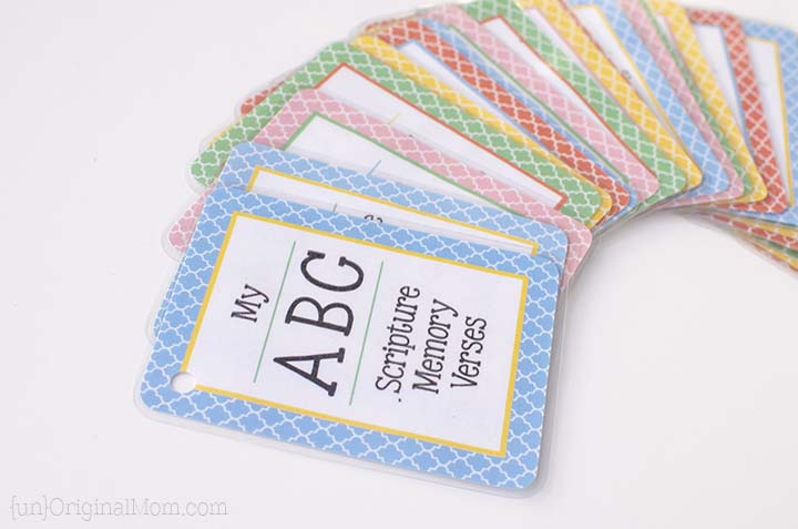 Free Printable ABC Scripture Memory Cards