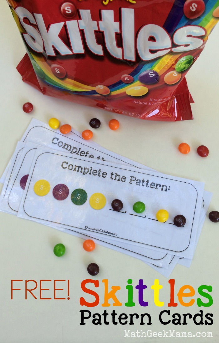 Free Skittles Patterns Cards
