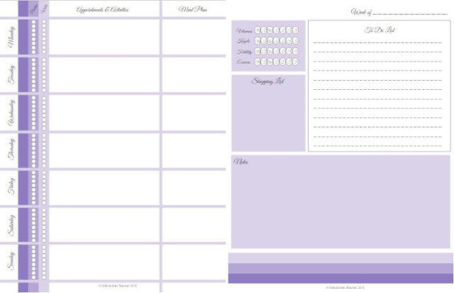 Planner Pages Side by Side
