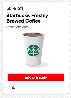 Starbucks Coffee Deal at Target