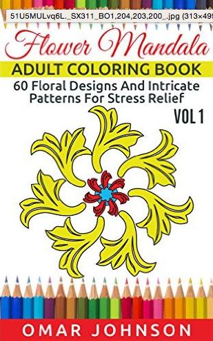 Flower Mandala Adult Coloring Book