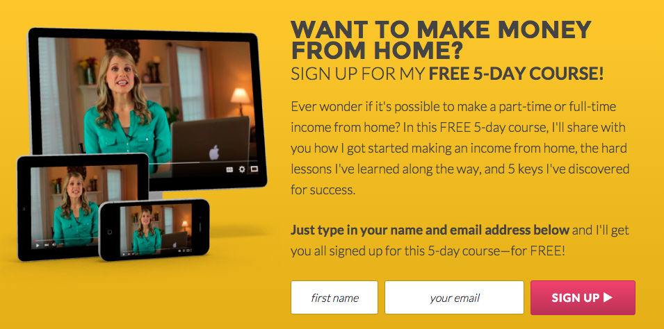 Free 5-Day Course on How I Make a Full-Time Income From Home