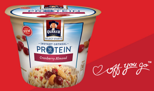 Free Cup of Quaker Oatmeal