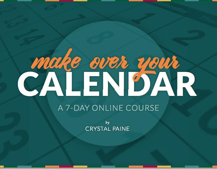 Get a copy of Make Over Your Calendar for Free!