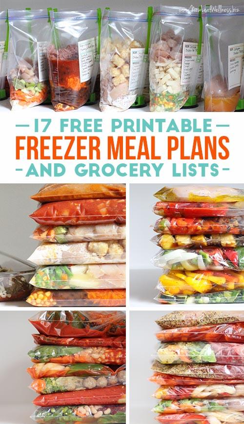 17 Free Printable Freezer Meals