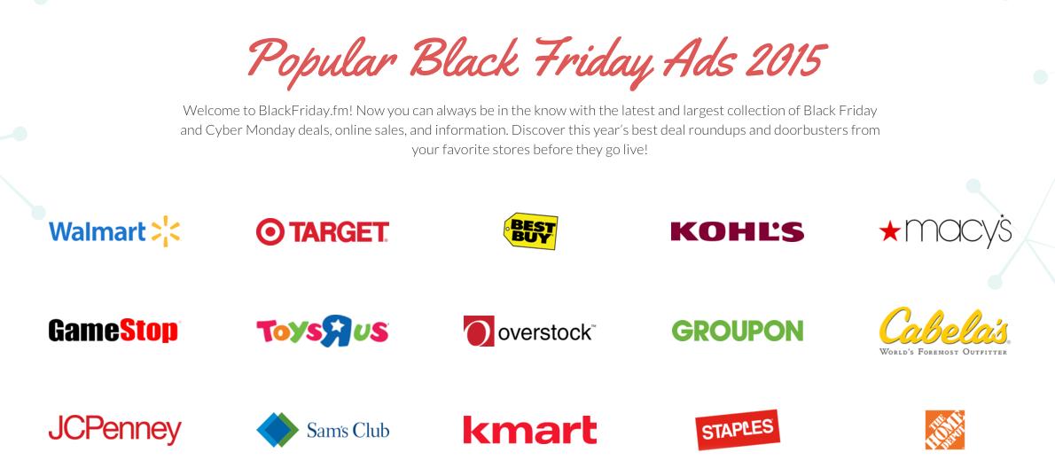 Black Friday Ads 2015