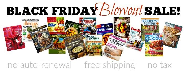 Black Friday magazine sale