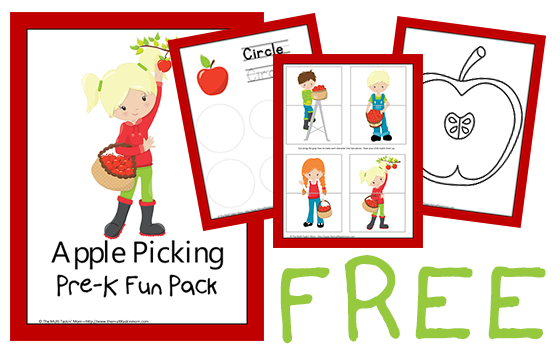 Free Apple Picking PreK Pack