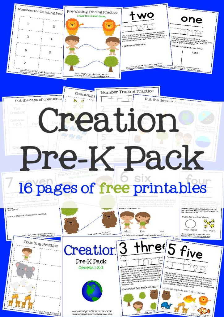 Free Creation Preschool Printable Pack - Money Saving Mom®