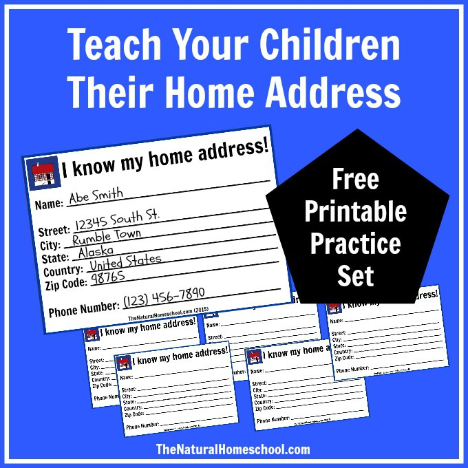 Free My Home Address Lesson Printables Money Saving Mom Money