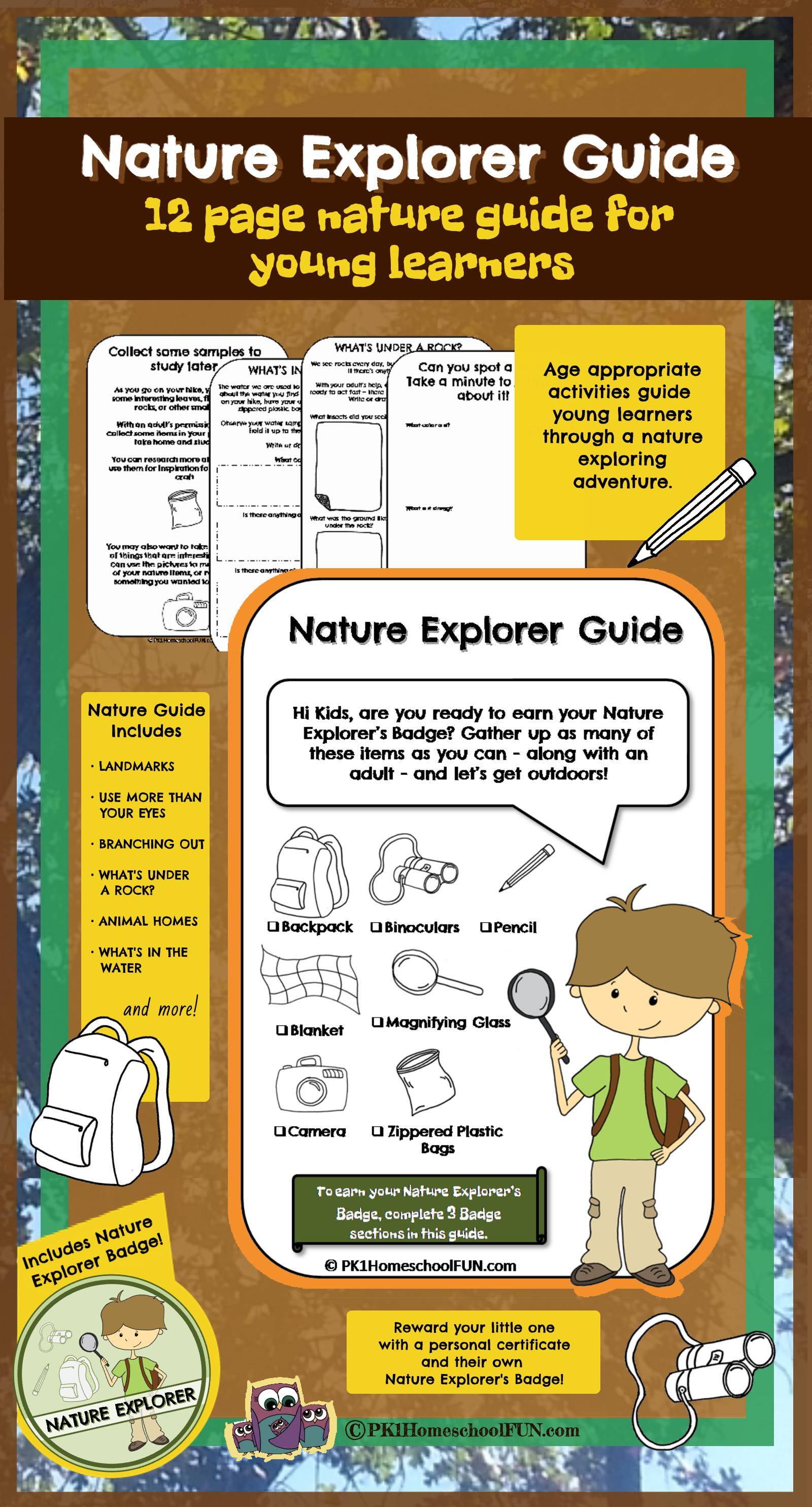 Free Nature Explorer Guide Printable Pack
