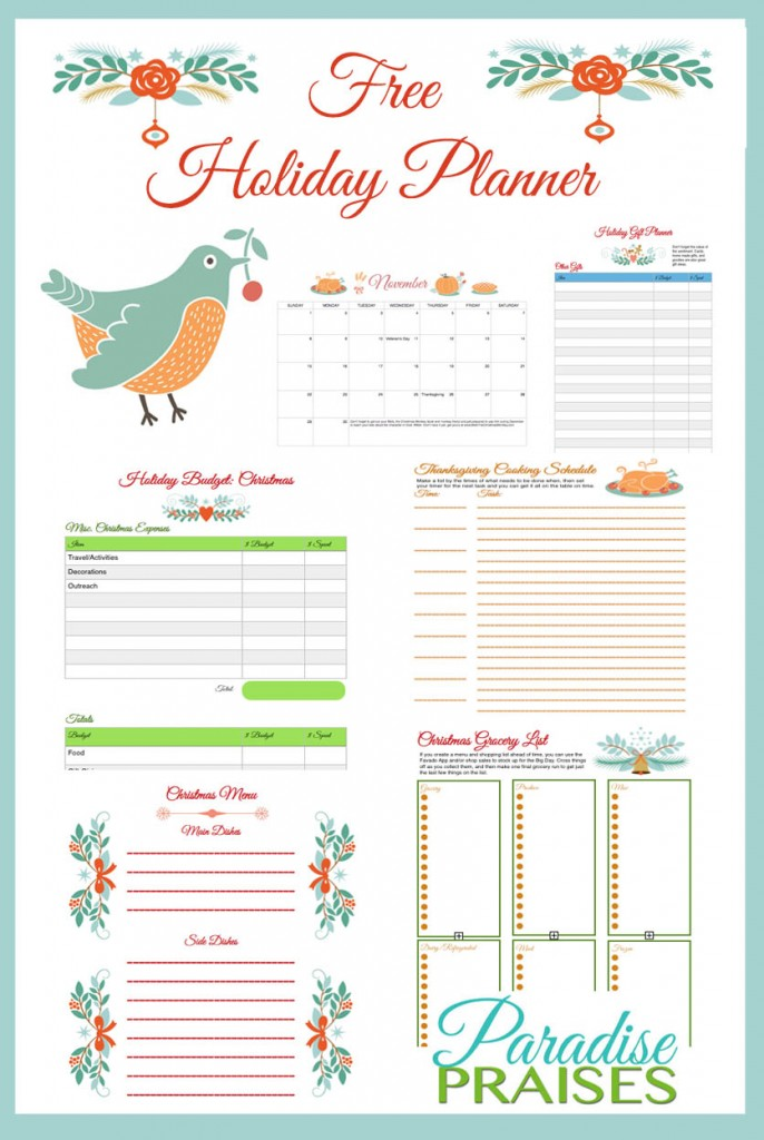 It is a picture of Current Christmas Planner Printable