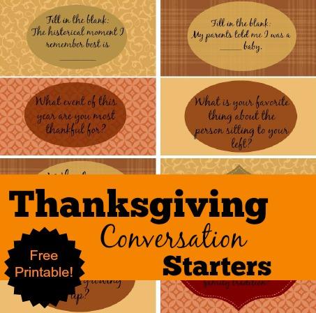 Free Thanksgiving Conversation Starters