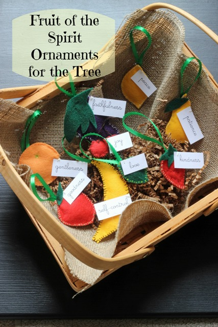 Fruit of the Spirit Christmas Ornaments