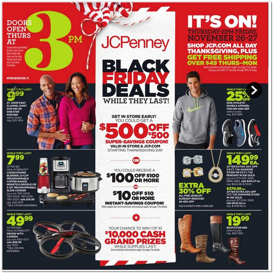 How to Use JCPenney Coupon Codes If you're looking for discounts at JCPenney, start here. Don't miss the Black Friday and Cyber Monday events with doorbuster deals and tons of savings. JCPenney promo codes can help you earn free shipping or save a percentage amount on purchase%(K).