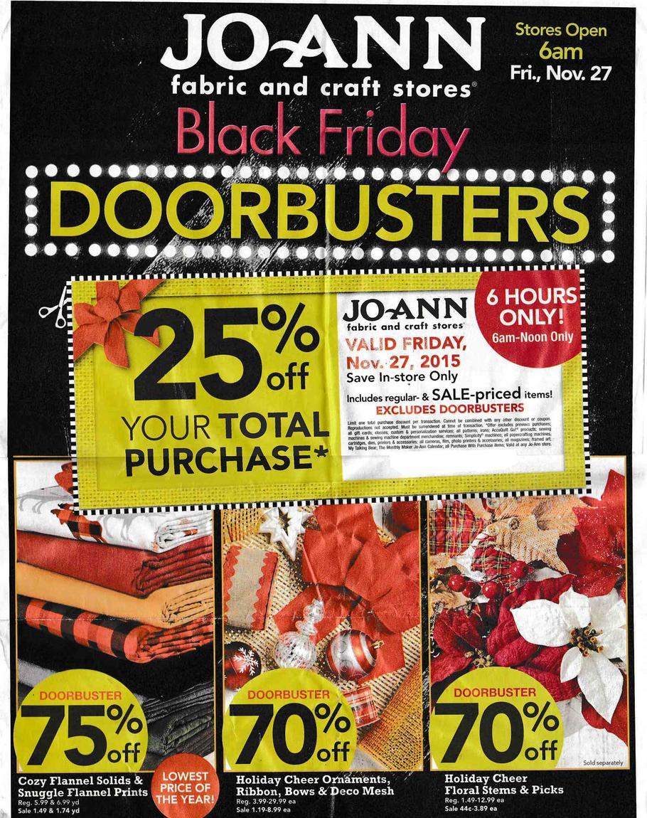 Joann black friday ad 2015 money saving mom for Joann craft store hours