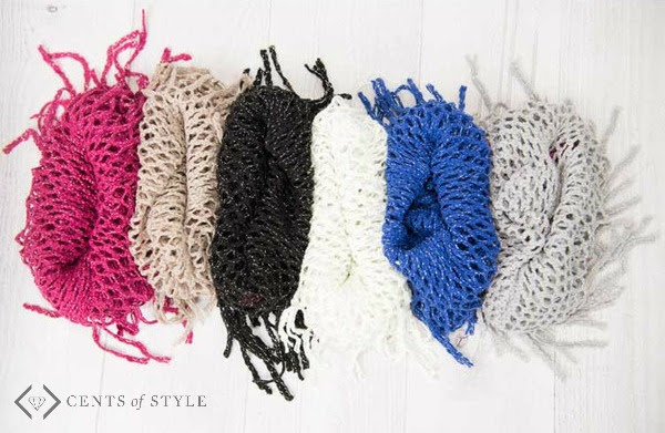 Kids Infinity Fringe Scarf Colors