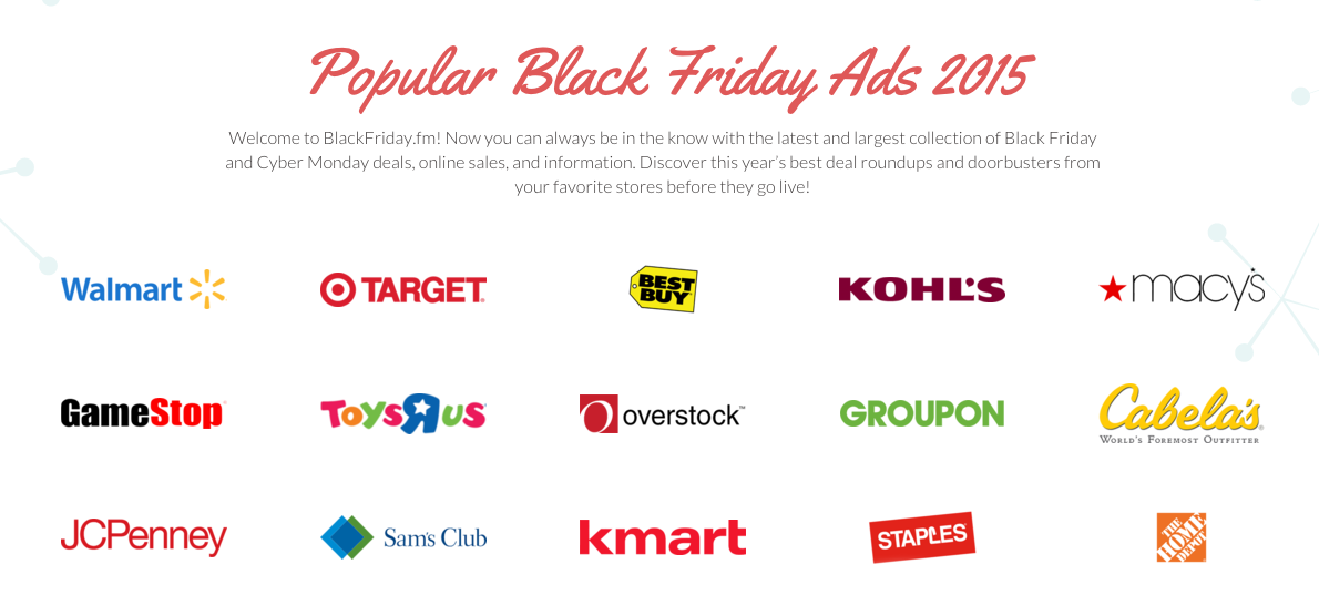 Black Friday Ads 2015
