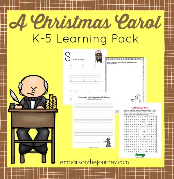 Free Christmas Carol Printable Learning Pack