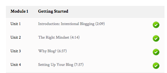 Get the Intentional Blogging Course for $97!